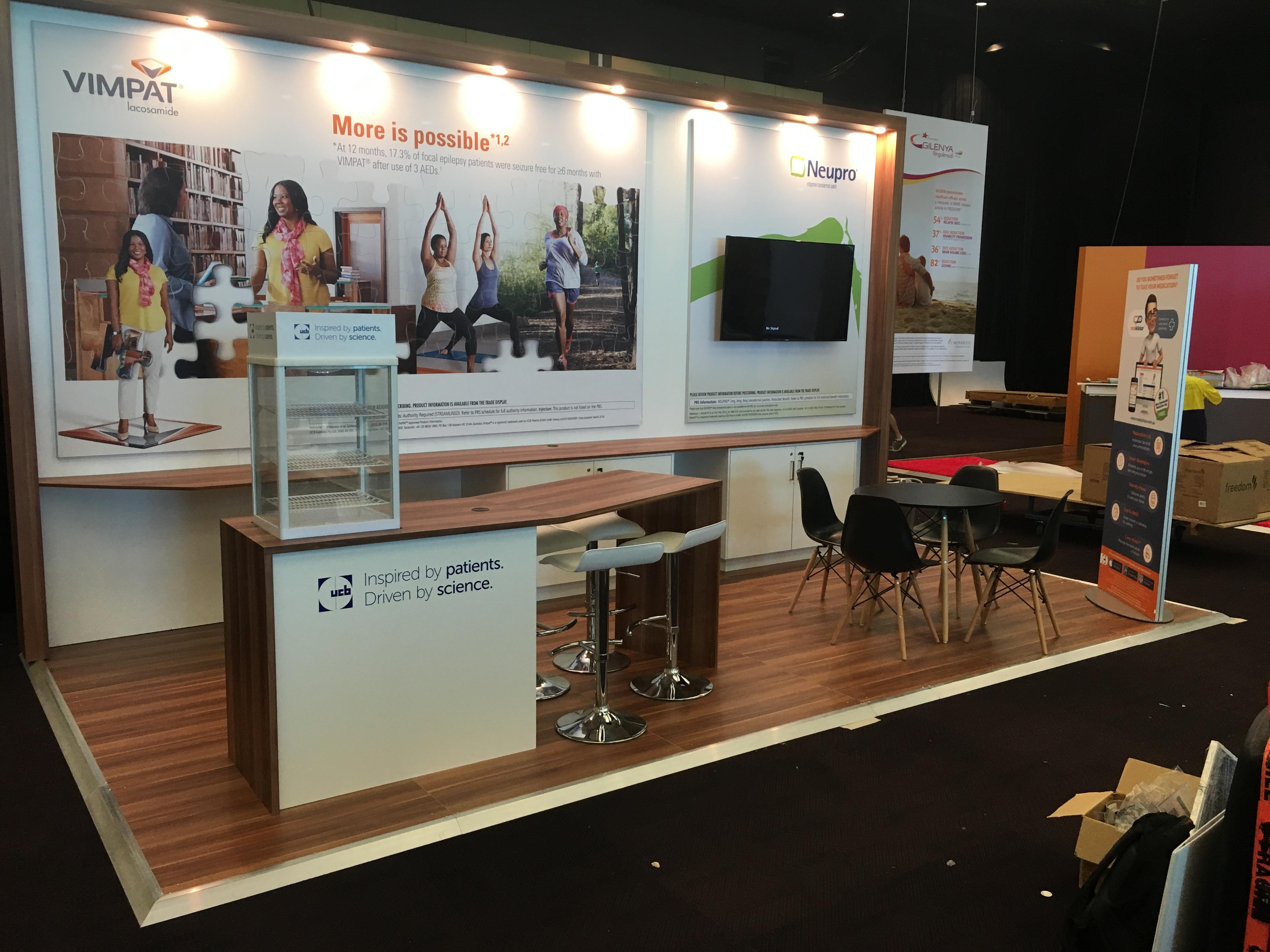 Exhibition Displays Perth : Vimpat exhibition perth convention centre kustom interiors